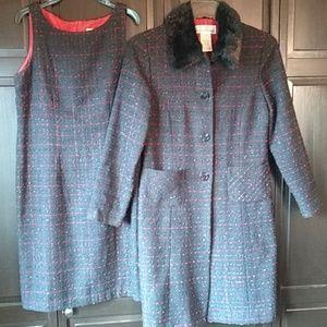 Jessica Howard Winter Suit, sheath dress + jacket